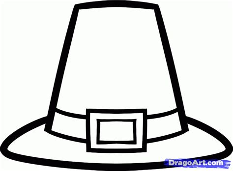 coloring page of pilgrim hat how to draw a pilgrim hat step by step thanksgiving