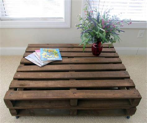 Coffee Table With Storage by Old Pallet Wood Coffee Table 101 Pallets