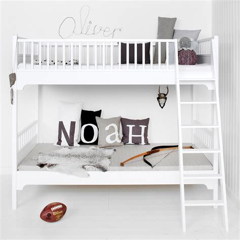 childrens bunk beds white childrens luxury bunk bed in white bunk beds cuckooland
