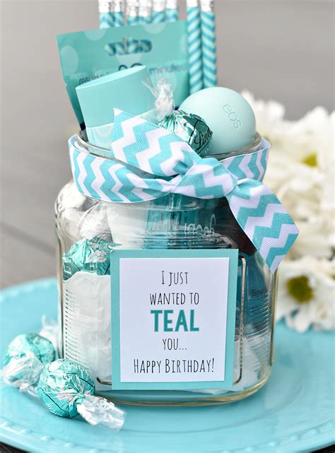 gift for teal birthday gift idea for friends fun squared