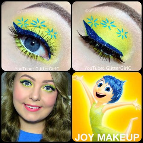 Makeup Tutorial Joy | inside out joy makeup tutorial glittergirlc