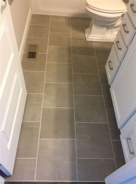 Skybridge gray 12x12 floor tile installed brick joint mi homes floor tile pinterest bricks