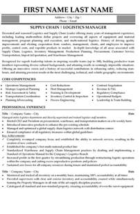 Resume Format For Supply Chain Management by Top Supply Chain Resume Templates Sles