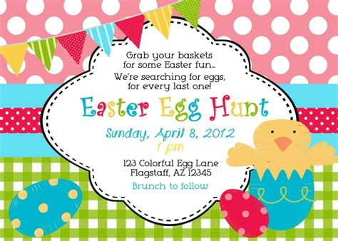 easter invitation template easter egg hunt invitation wording neighborhood