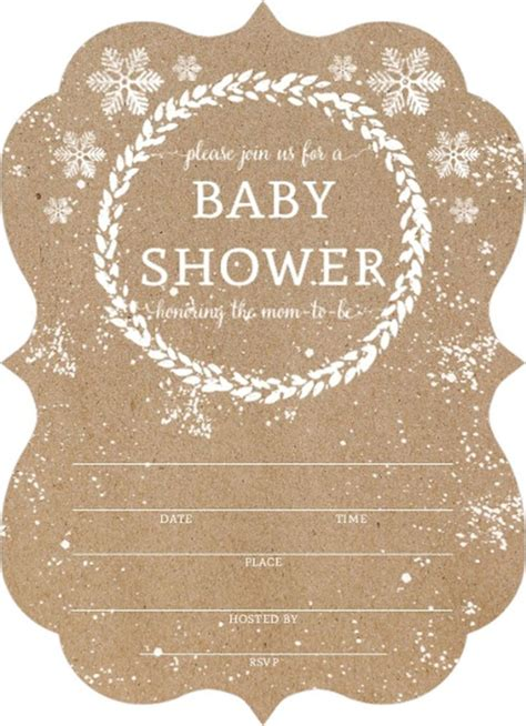 baby shower templates for affordable kraft snowfall fill in blank baby shower
