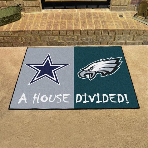Philadelphia Eagles Rugs by Dallas Cowboys Philadelphia Eagles House Divided Floor