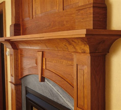cherry mantel eclectic fireplace mantels portland