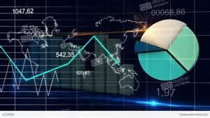 3d House Design world map statistic data graph dark blue loop fina stock