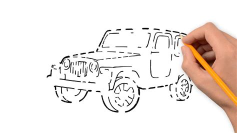 jeep drawing easy jeep transport with a pencil to draw by