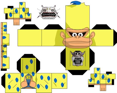 Kong Papercraft - kong 3ds commercal by hollowkingking on deviantart