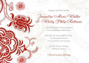 free printable wedding invitation card template