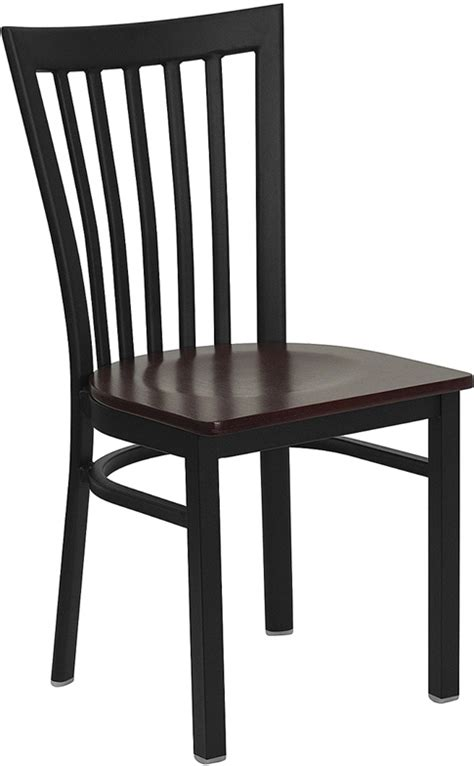 flash furniture hercules series mahogany finished school hercules series black school house back metal restaurant