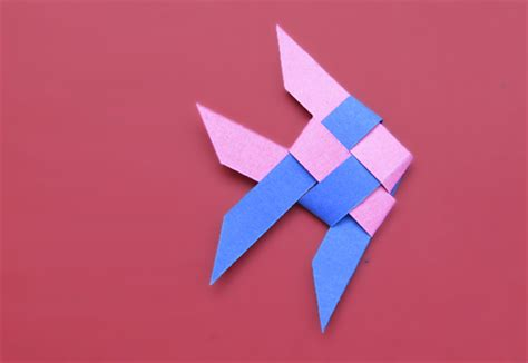 Make Paper Fish - how to make a fish from woven paper strips or ribbon