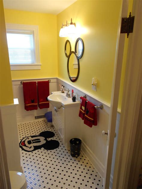 mickey mouse home decorations original pinner said our newly renovated mickey bathroom