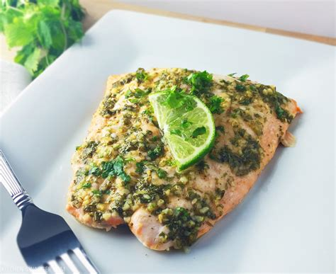 Clintro And Lime Detox Recipes by Baked Salmon With Fresh Cilantro And Lime Recipe Kitchen