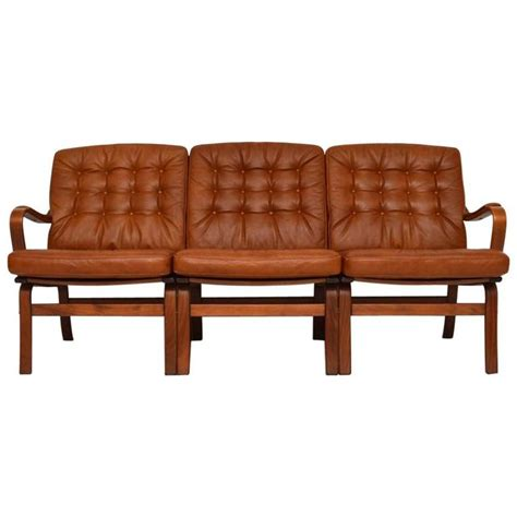 retro danish sofa danish retro leather bentwood sofa vintage 1970s at 1stdibs