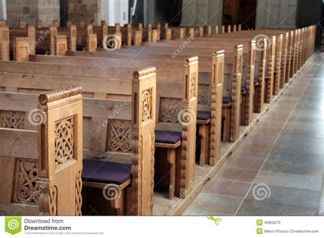 bench in a church benches in a church stock photo image 40855273