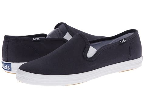 Keds Slip On by Keds Chion Canvas Slip On At Zappos