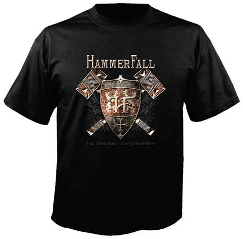 T Shirt Hammerfall hammerfall logo t shirt metal rock t shirts and