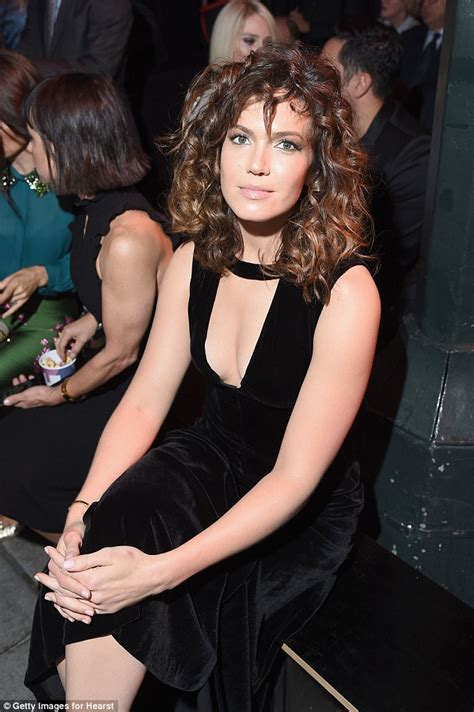 Bsf 02 Dress Palyboy mandy rocks curly hair and plunging black velvet dress daily mail