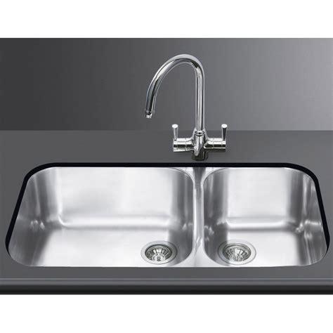 lavelli sottopiano lavello smeg sottotop um4530 2 vasche acciaio inox smeg