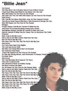 michael jackson thriller testo michael jackson billie jean lyrics song billie jean by