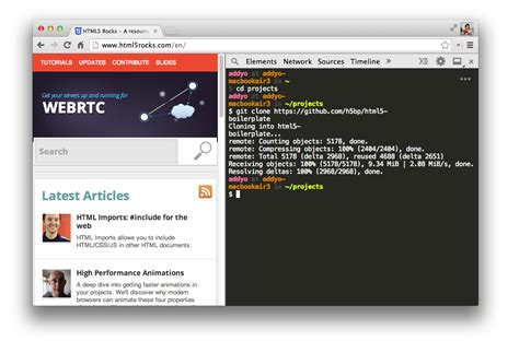 git tutorial html5 using your terminal from the devtools html5 rocks