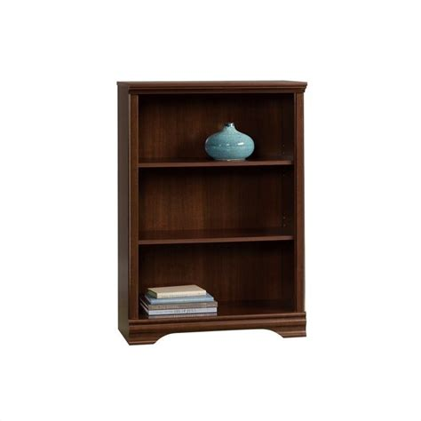 Sauder 3 Shelf Bookcase Sauder Carolina Estate 3 Shelf Select Cherry Bookcase Ebay