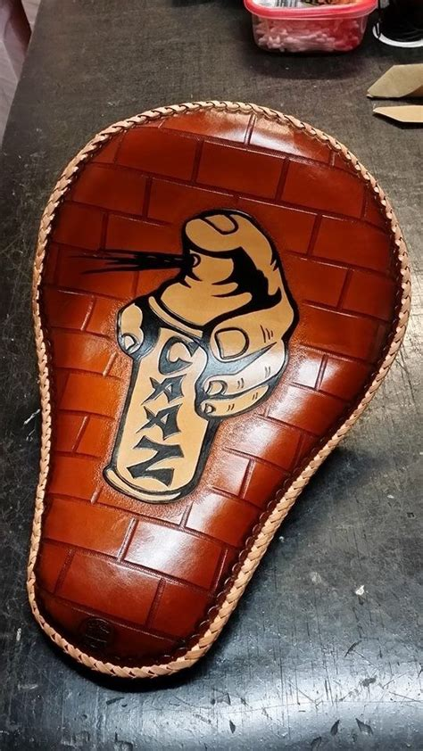 made motorcycle seat by alamo custom leather