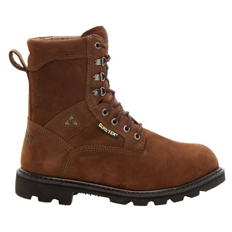 mens brown hiking boots rocky mens brown leather ranger steel toe goretex