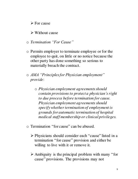 physician employment agreement physician contracting presentation 10 02 12
