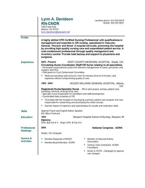 example of rn resume resume templates