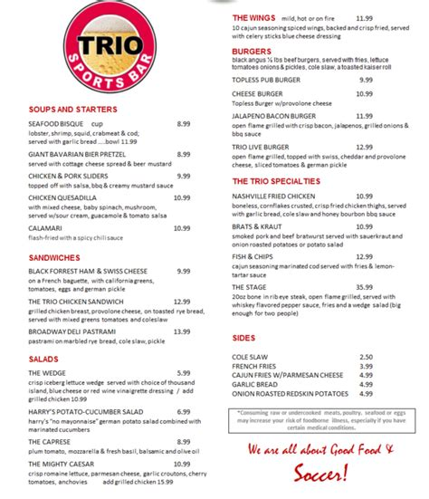 trio house menu trio house menu 28 images welwyn garden city menus cafe trio welwyn garden city