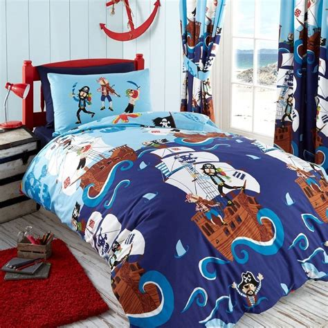 Swashbuckle Pirates Boys Bedroom Bedding Duvet Cover Sets Size Bedding Sets For Boys