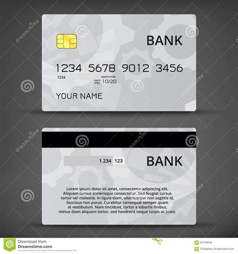Credit Card Design Template Vector Templates Of Credit Cards Design Stock Vector Image 64709645