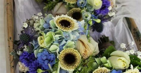 flower design st annes cobalt blue chocolate browns cafe latte shades for