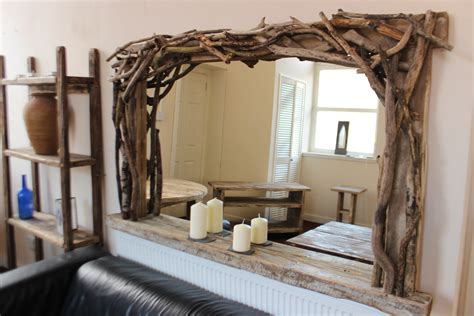 Distressed Farmhouse Floor Mirror For Sale - rustic driftwood farmhouse mirrors for sale