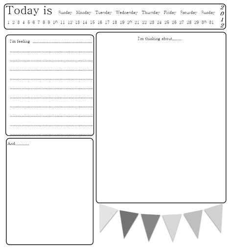printable journal page template diary writing template search results calendar 2015