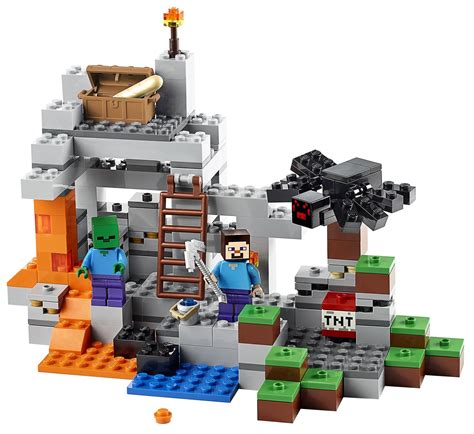 Out On Set by Lego Minecraft The Cave The Farm Revealed 21113 21114