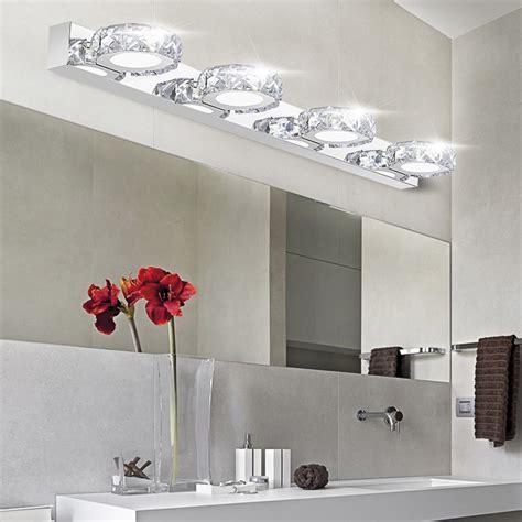 modern vanity light bathroom lighting wall fixture modern k9 led bathroom make up mirror light cool white wall sconces l 90 260v