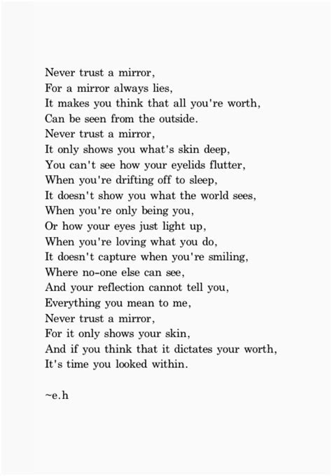 Would You Trust A Mirror For Fashion Advice by Best 25 Meaningful Poems Ideas Only On