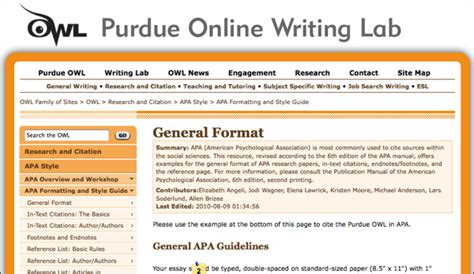 purdue owl apa format template cite sources arabic language and literature u grant