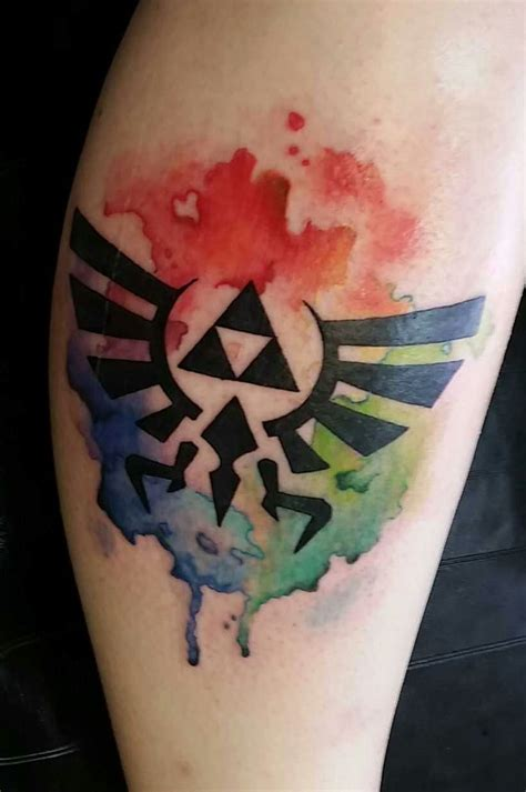 watercolor tattoo zelda eric clark solid metal mi usa tats