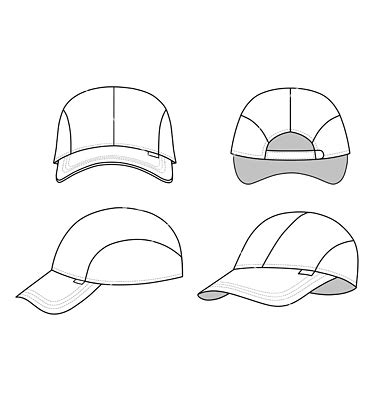Topi Snapback Think Out Side The Box 18 hat template vector images hat template