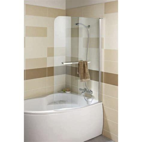 si鑒e de baignoire pivotant ajustable en largeur pare baignoire 1 volet courbe h 150xl 95 cm verre s 233 curit 233