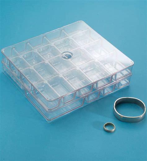 acrylic jewelry organizer in jewelry trays