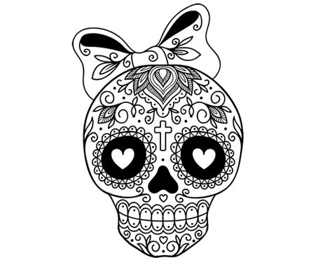 imagenes de calaveras y calacas dibujos de calaveras mexicanas para colorear en halloween
