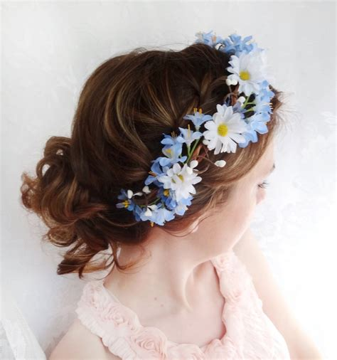 Wedding Hair Accessories With Blue by Blue Flower Wreath Bridal Hair Accessories Blue