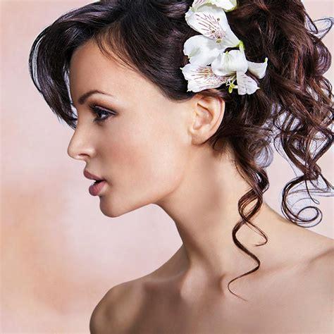 Hochzeitsfrisuren Mittellanges Haar by Romantische Halbe Hochsteckfrisur Mit Locken