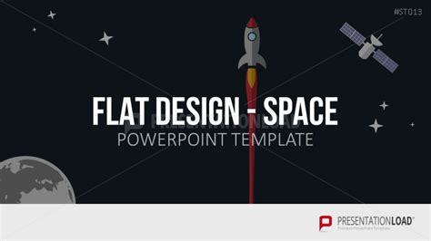 Powerpoint Vorlagen Flat Design Flat Design Weltraum Presentationload